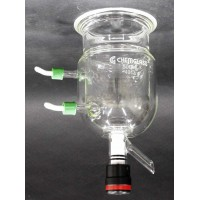 Chemglass Life Sciences CG-1930-23 500 ml Reaction Vessel Jacketed 13748